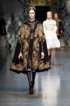 Gold bullion, cherubs and lace gave Dolce & Gabbana a softer edge this season.